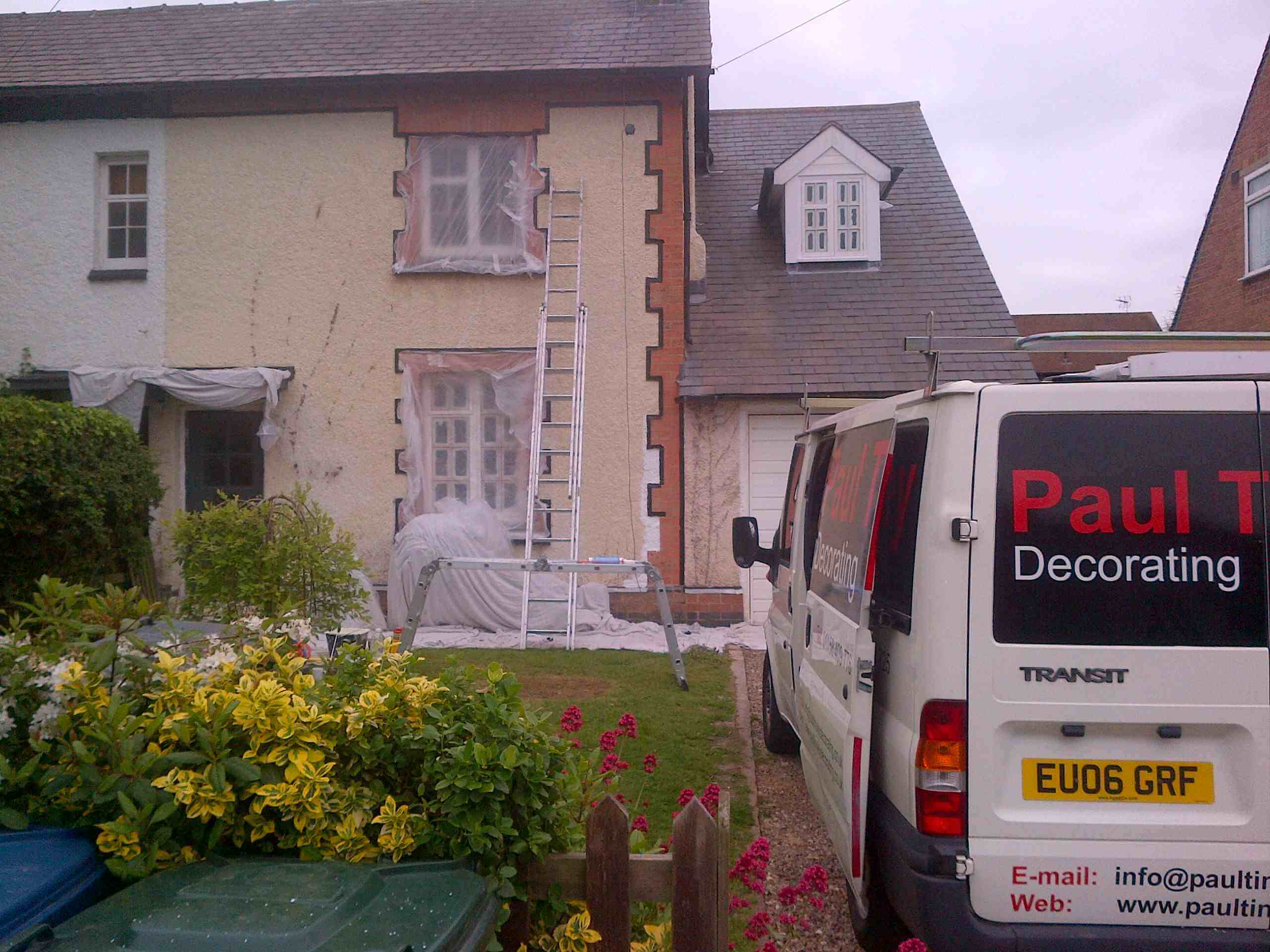 External painters and decorators nottingham - Exterior painting process decoration ...